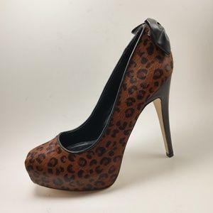 "Dolce Vita Shoes - Dolce Vita Platform 5"" Heels Leopard Print Fur DV"